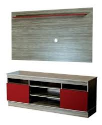 RACK C/PANEL TV MILAN PINOT/ROJO